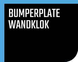 Bumperplate / Wandklok