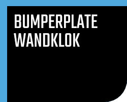 Bumperplate Wandklok