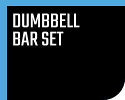 Dumbbell bar set
