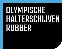 Olympische Halterschijven Rubber