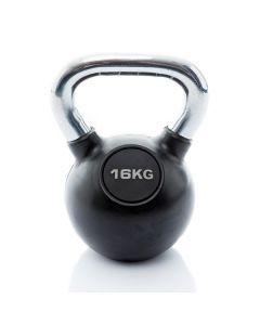 Kettlebell Rubber/Chrome 16 kg