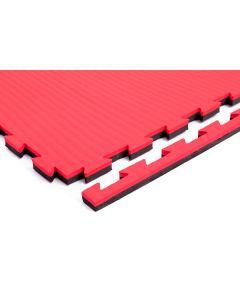 Puzzelmat 100 X 100: 2,5 cm Dik Zwart/rood