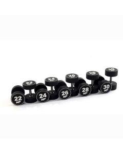 Urethaan dumbbell set 22 - 30 kg