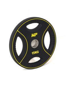 15 kg Polyurethaan 4 Grip Halterschijf 50 mm