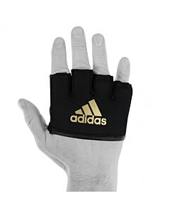 Adidas knokkelbeschermer met gel zwart/goud one size