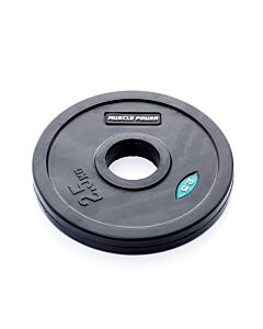 Ol. Zwarte Rubber Halterschijf 2,5 kg