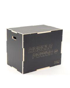 Houten Plyo Box zwart met anti-slip MP1067