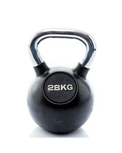 Kettlebell Rubber/Chrome 28 kg