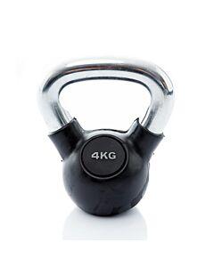 Kettlebell Rubber/Chrome 4 kg