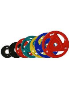 50 mm Ol. Kleur Halterschijven van rubber MP803