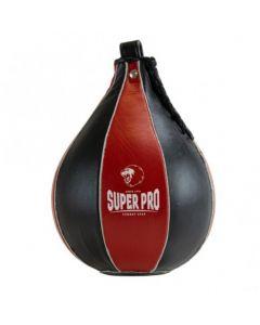 Super Pro Lederen Speedball Zwart/Rood